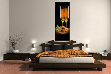 1 piece canvas art print, bedroom art, wine multi panel art, wine huge pictures