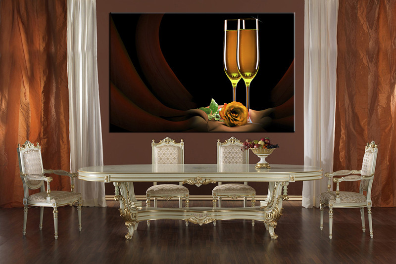 1 Piece Large Pictures, Dining Room Wall Decor, Wine Group Canvas, Wine  Artwork Part 53