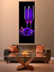 1 piece huge pictures, living room multi panel canvas, wine canvas art prints, blue wine artwork, wine decor