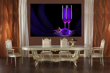 1 piece large canvas, dining room wall art ,wine pictures, rose canvas photography