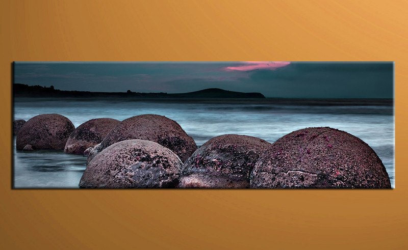1 Piece Canvas Photography Blue Ocean Rock Huge Pictures