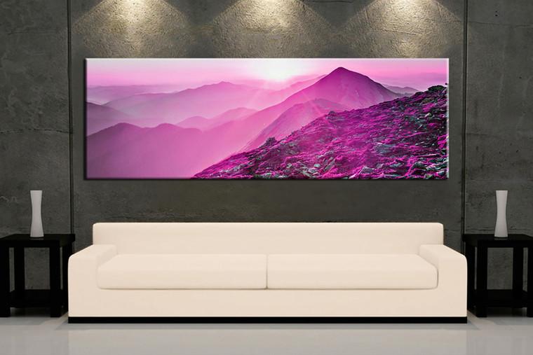 1 Piece Purple Canvas Photography Mountain Landscape Wall decor