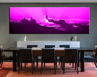 1 piece multi panel canvas, dining room canvas photography, cloud wall art, abstract artwork