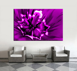 1 piece large pictures, living room multi panel art, flower photo canvas, floral artwork