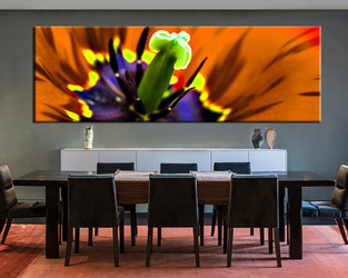 1 piece large canvas, dining room artwork, flower canvas wall art, floral group canvas, flower photo canvas
