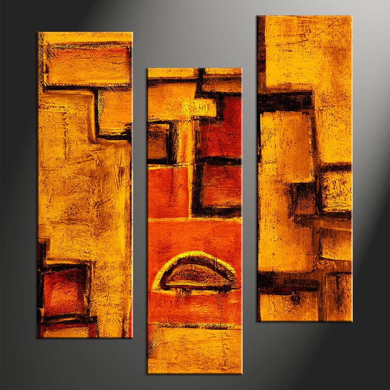 3 piece orange abstract photo canvas for Buy canvas prints online