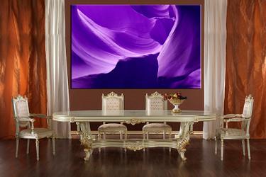 1 piece large canvas, dining room canvas wall art, purple mountain artwork, landscape huge pictures, landscape art