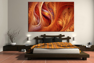 1 piece canvas art print, bedroom art, brown modern multi panel art, modern huge pictures
