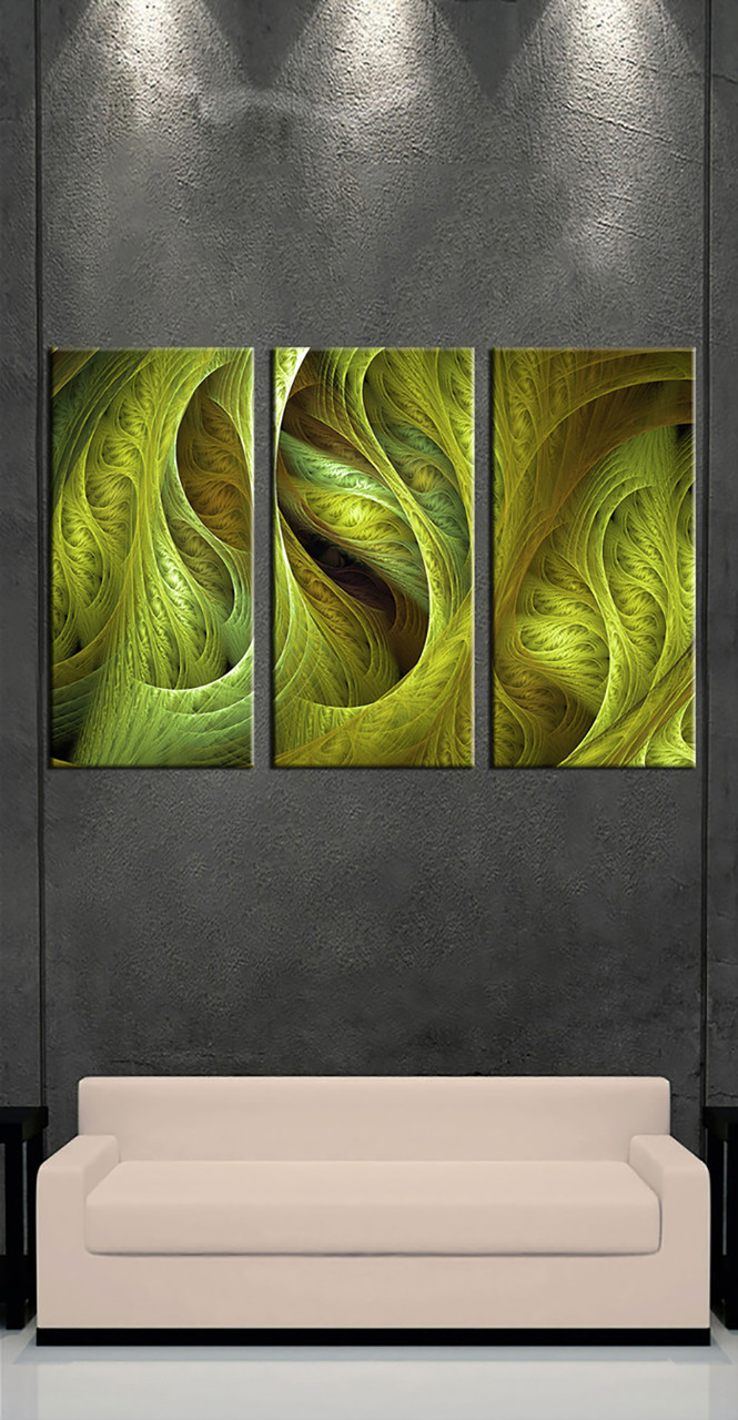 Triptych Wall Art triptych green modern canvas photography