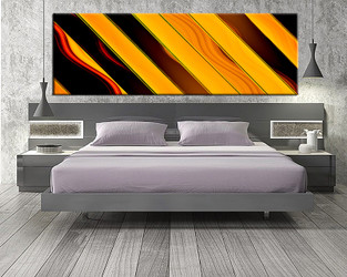 1 piece canvas art print, bedroom art, modern orange multi panel art, modern huge pictures