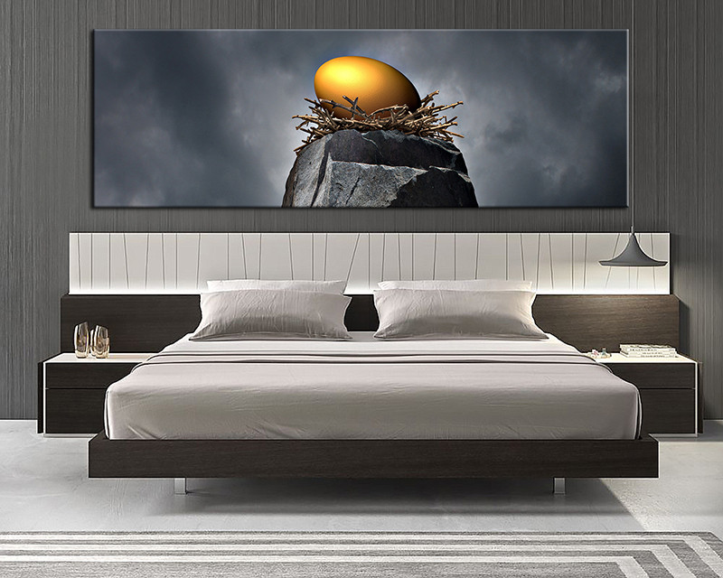 1 Piece Grey Modern Nest Canvas Photography