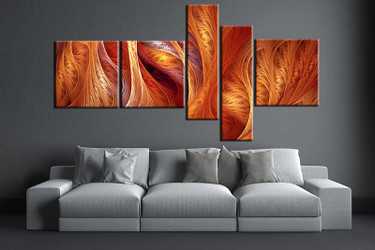 living room wall art, 5 piece wall art, brown modern multi panel art, modern large pictures, modern photo canvas