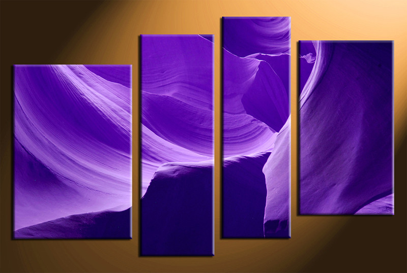 Purple Canvas Wall Art 4 piece landscape purple canvas wall art