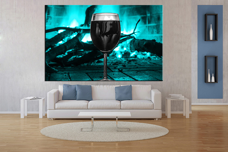 1 Piece Large Pictures Living Room Multi Panel Art Blue Wine Photo Canvas