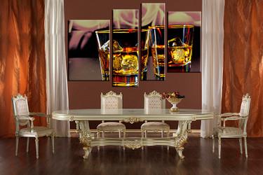 dining room art, 4 piece canvas art prints, wine canvas photography, yellow wine canvas art prints, wine huge pictures