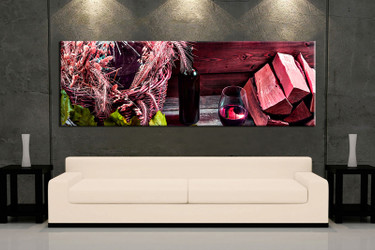 1 piece large pictures, living room art, red wine photo canvas, wine artwork