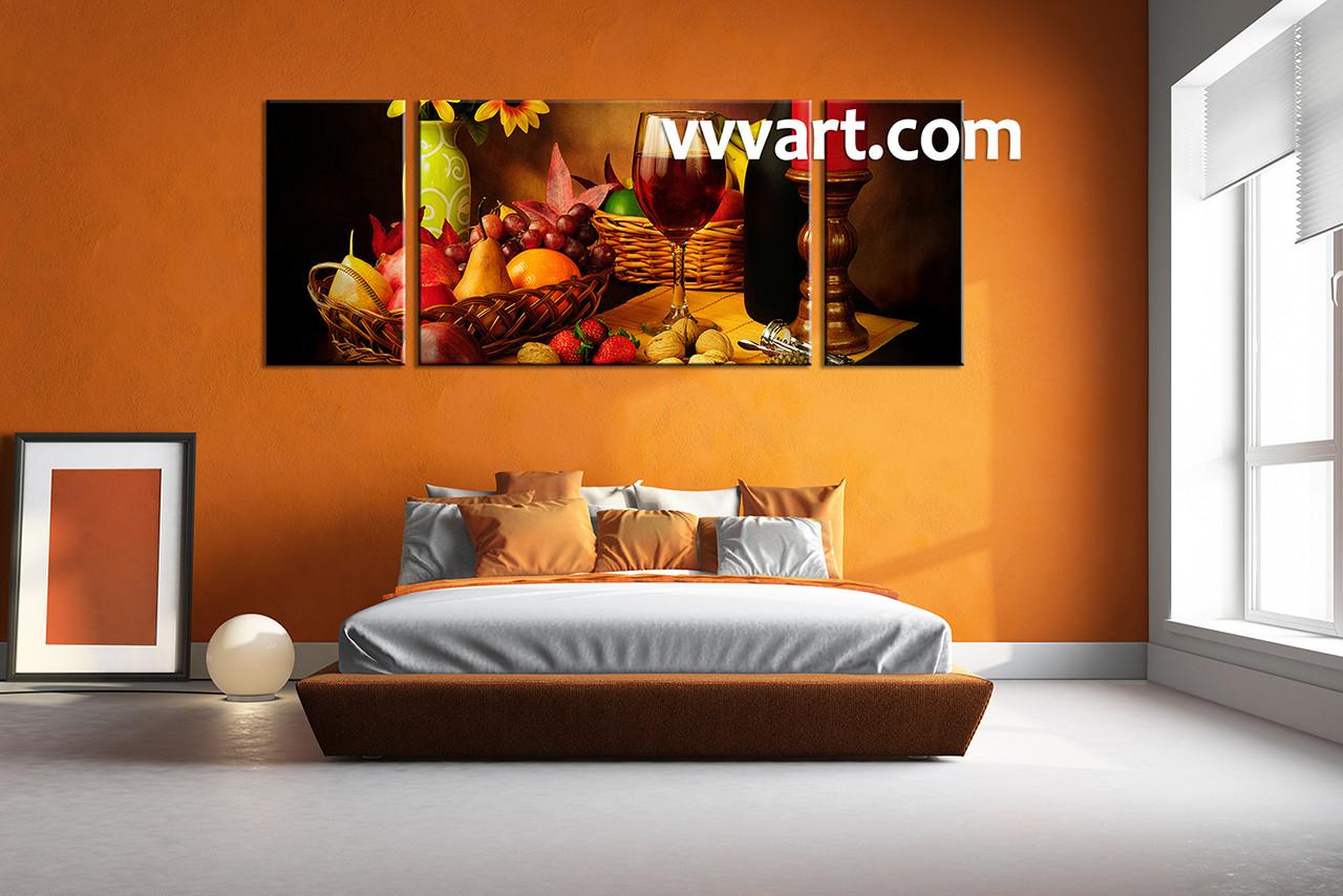 1 piece canvas wall art wine brown wall art wine multi panel canvas & 1 Piece Brown Canvas Wine Wall Art