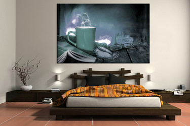 1 piece canvas wall art, bedroom kitchen artwork, cup pictures, cup canvas print, kitchen artwork