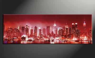 home decor art, 1 piece canvas art prints, red city canvas print, city group canvas, city pictures