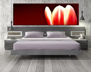 1 piece canvas wall art, bedroom art print, floral large canvas, floral multi panel canvas, floral art