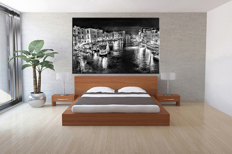 1 piece canvas art print bedroom wall art black and white city canvas photography