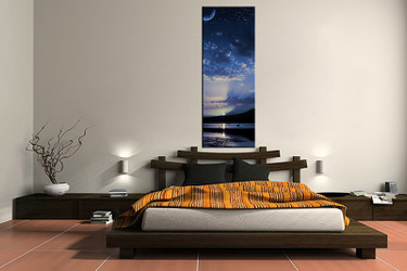 1 piece large pictures, ocean blue art, bedroom multi panel art, scenery photo canvas, landscape artwork,