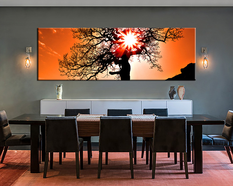 1 Piece Large Canvas, Dining Room Artwork, Scenery Canvas Wall Art, Scenery  Group