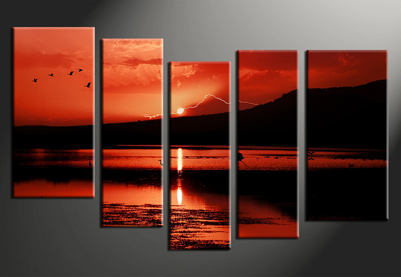 5 piece canvas print home decor artwork ocean photo canvas landscape canvas photography