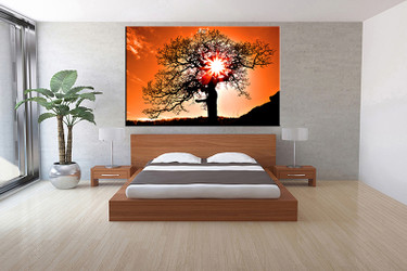 1 piece canvas wall art, bedroom scenery artwork, scenery pictures, nature canvas print, scenery artwork