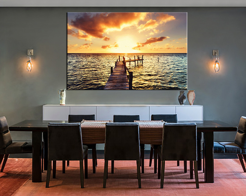 Good 1 Piece Canvas Wall Art, Ocean Canvas Print, Blue Ocean Art, Dining Room