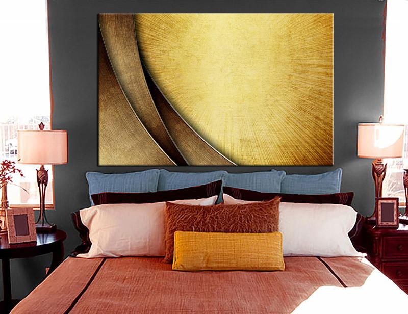 1 Piece Yellow Modern Large Canvas