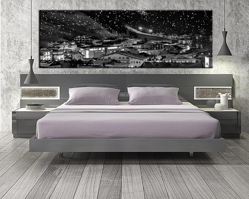 1 Piece Grey City Canvas Art Print