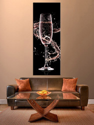 1 piece wall art, yellow wine multi panel art, wine artwork, wine huge large pictures, living room photo canvas