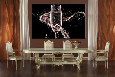 1 piece large canvas, dining room wall art,wine pictures, wine canvas photography