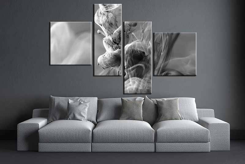 4 Piece Huge Pictures, Living Room Multi Panel Canvas, Modern Canvas Art  Prints,