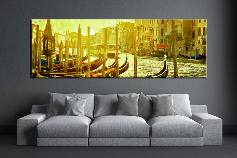 1 Piece Green Artwork Canvas City Wall Art