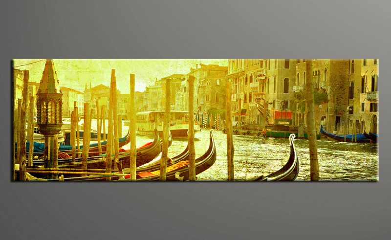 Piece Green Artwork Canvas City Wall Art