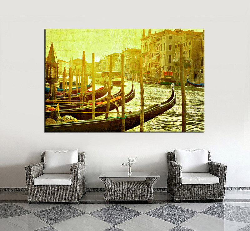 1 Piece Green Pictures Canvas City Huge Pictures