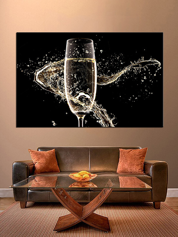 1 piece wine black large canvas - Large pictures for living room ...