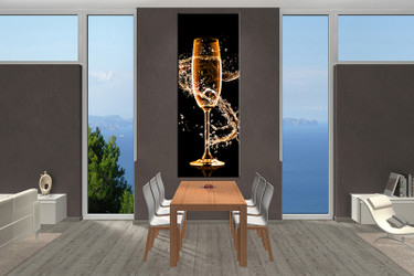 1 piece large canvas, dining room artwork, Wine canvas wall art, Wine group canvas, Wine photo canvas