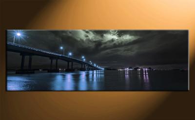 home decor,1 piece canvas print, city wall art, blue city canvas photography, bridge huge pictures