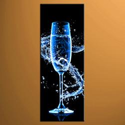 home decor art, 1 piece canvas art prints,blue Wine canvas print, Wine group canvas, Wine pictures