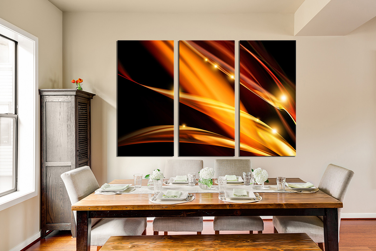 3 Piece Large Canvas Dining Room Wall Artmodern Pictures Modern Photography