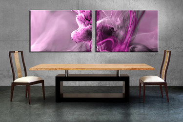 dining room decor, 2 piece wall art, modern pictures, purple modern wall  decor