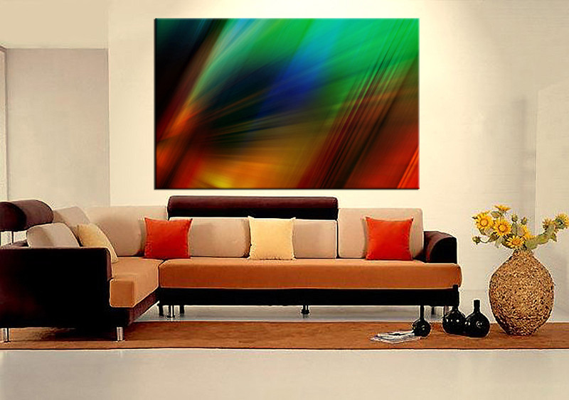 1 piece grey modern canvas art - Contemporary wall art for living room ...