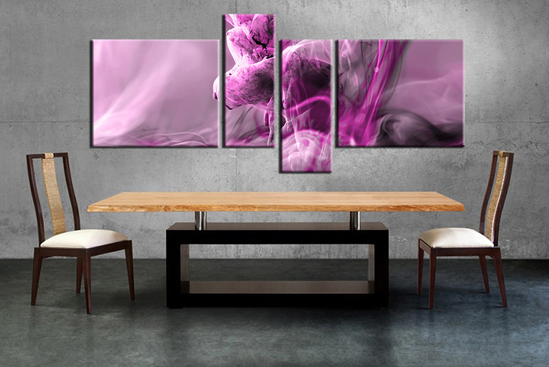 4 Piece Large Canvas Dining Room Wall Artmodern Pictures Modern Photography