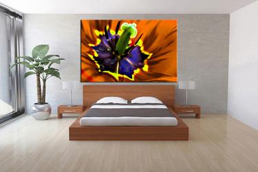 1 piece canvas wall art, bedroom floral artwork, floral pictures, brown canvas print, floral artwork