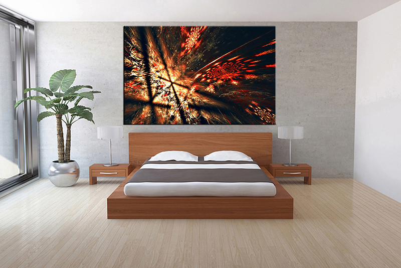 1 piece canvas red abstract pictures for Buy large canvas prints