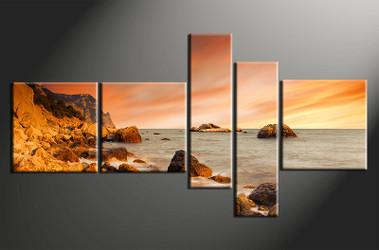 5 piece canvas print, home decor artwork, ocean photo canvas, ocean canvas photography, ocean art