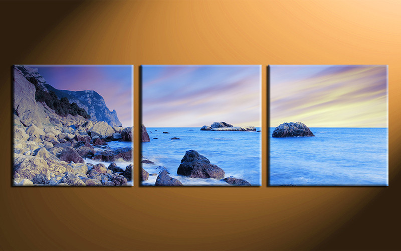 3 Piece Canvas Wall Art, Home Decor Art, Ocean Canvas Art Print, Ocean